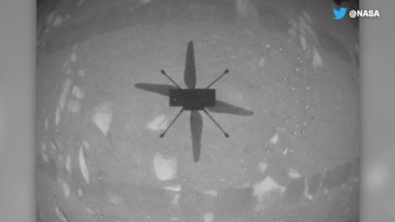 Watch the Ingenuity helicopter's first flight on Mars