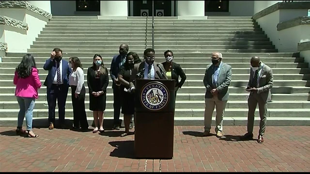 WEB EXTRA: Sen. Shevrin Jones, Others Democratic Lawmakers Blast Gov. DeSantis For Signing HB-1 Into Law