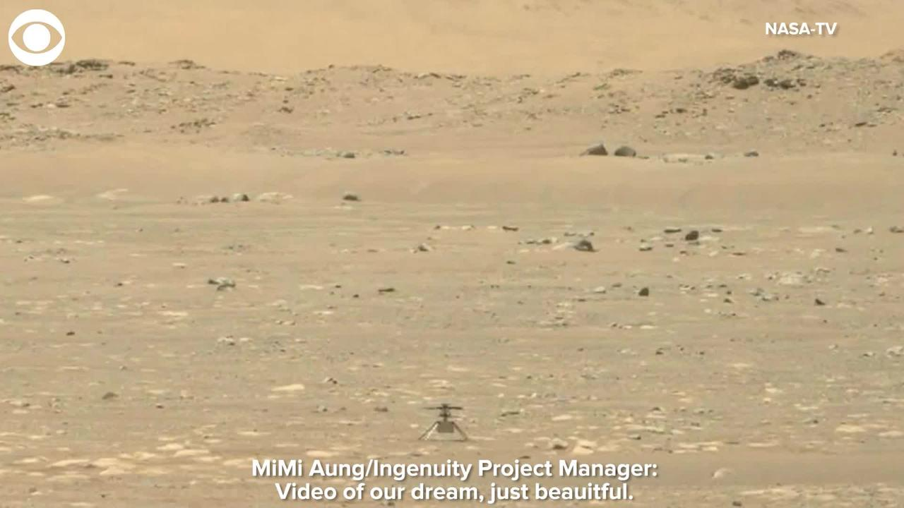 WEB EXTRA : Video Of NASA Ingenuity helicopter's Flight Gives Project Manager 'Goosebumps'