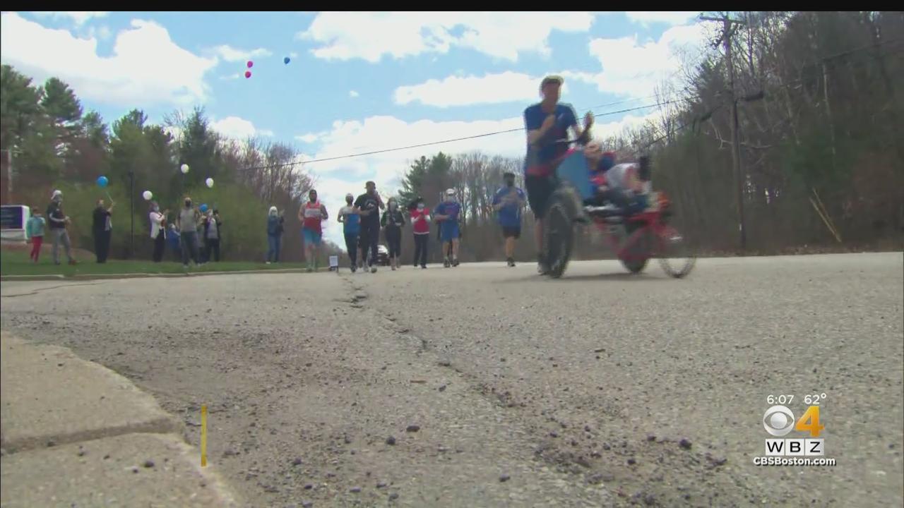 Rick Hoyt Pushed By His Nephew For Boston Marathon Mile