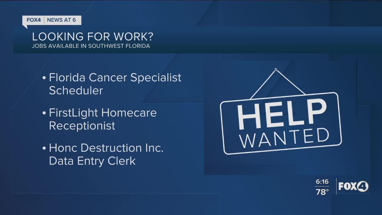 Job openings in Southwest Florida