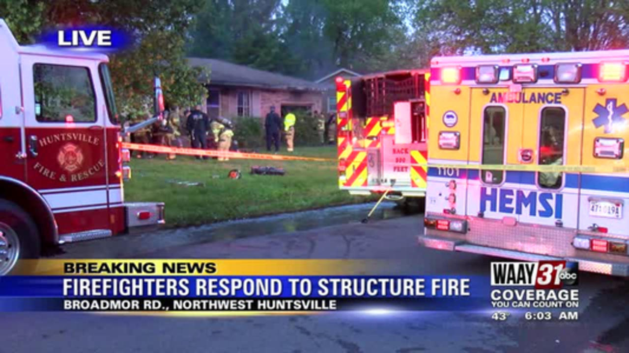 1 person killed in Monday morning Huntsville house fire