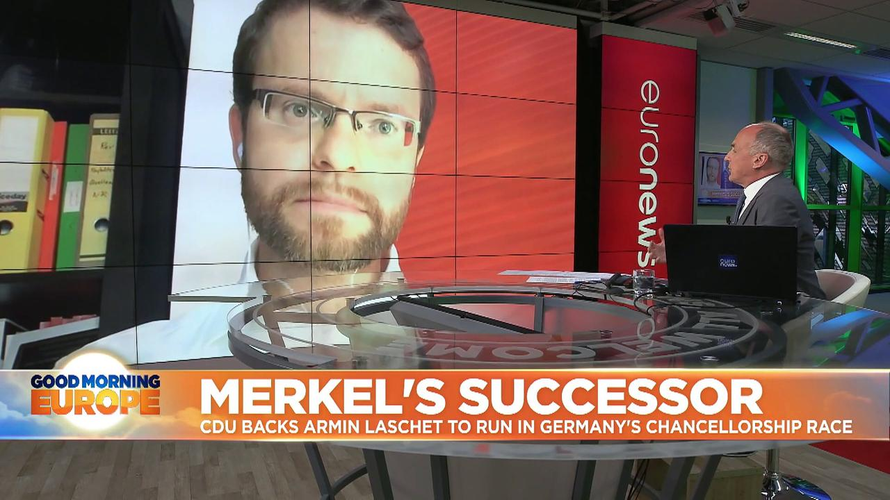 German election: CDU backs Armin Laschet as its candidate to succeed Merkel in Chancellery