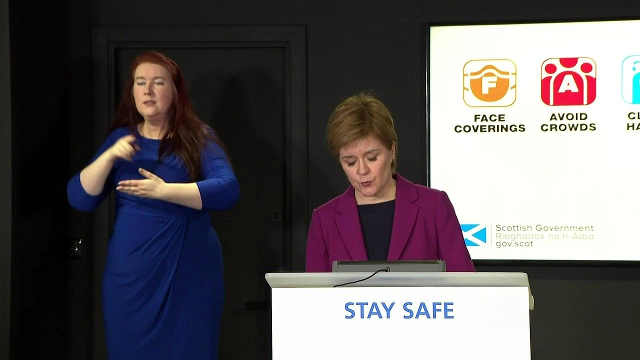 Sturgeon: Scotland's lockdown restrictions to ease on Monday