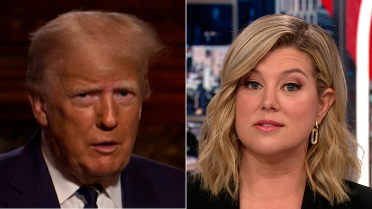 Keilar rolls the tape on Trump's first in-person interview as former-President
