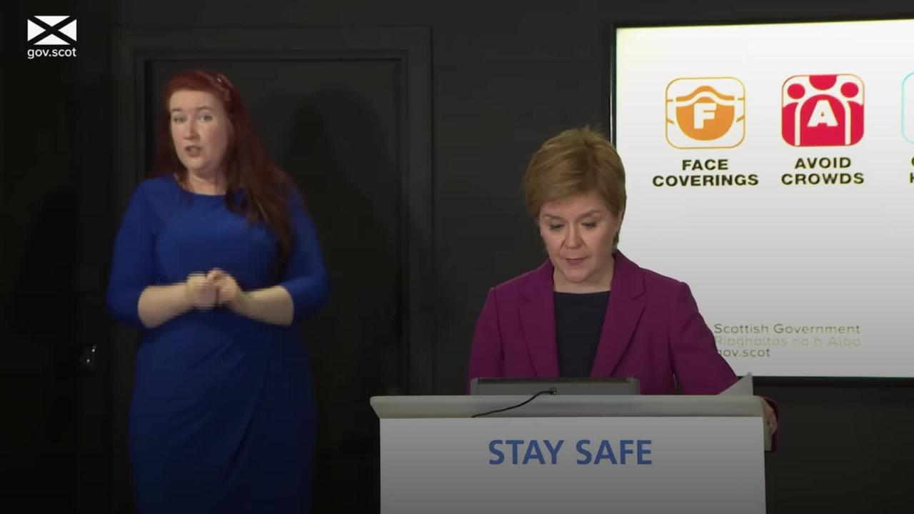 Scotland's lockdown restrictions to ease on Monday, Sturgeon confirms