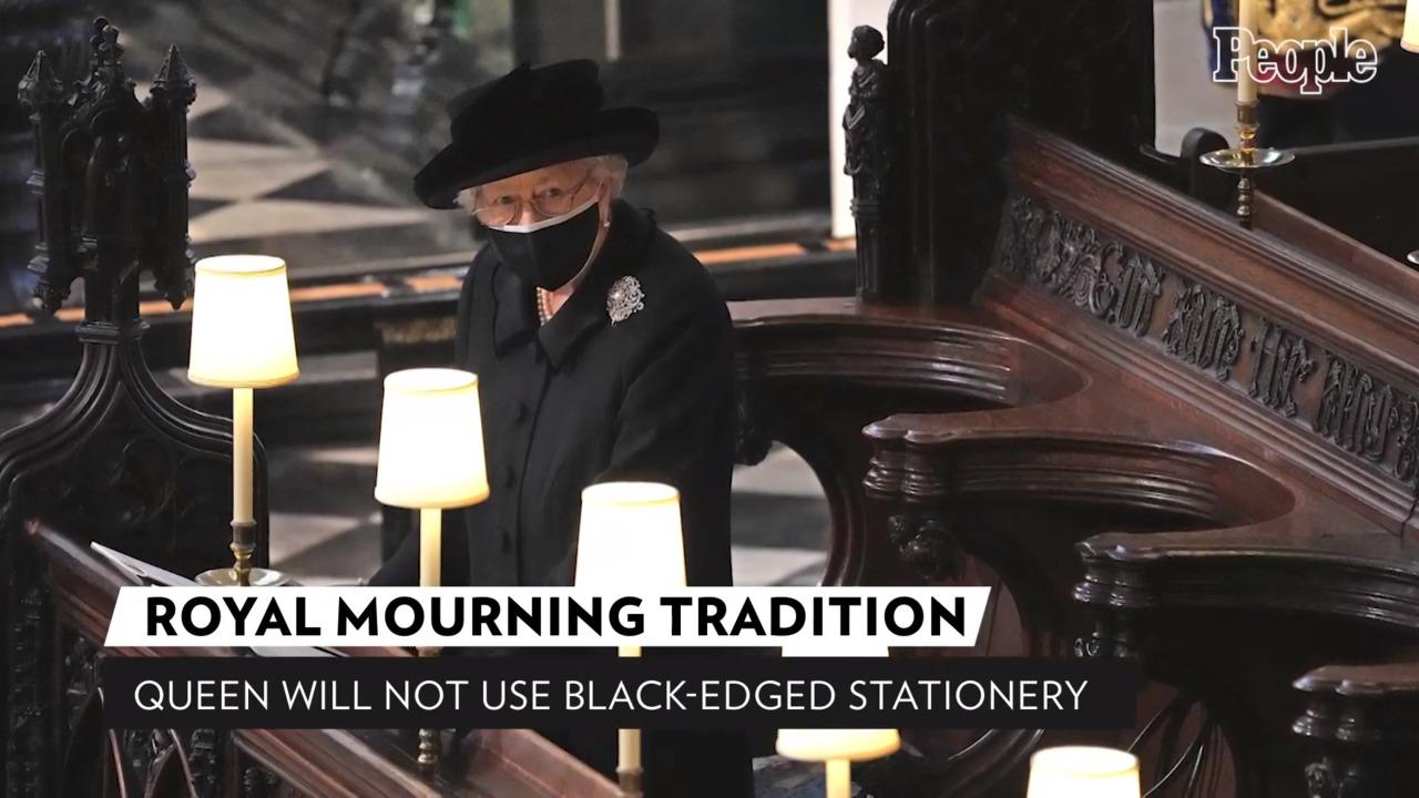 The Queen Breaks with Royal Mourning Tradition After Death of Prince Philip