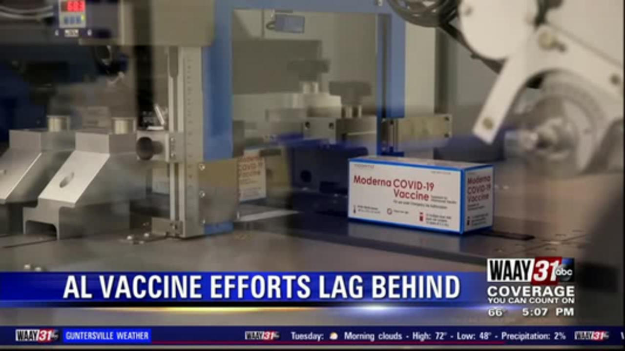 Alabama coronavirus vaccination rollout lags behind the rest of the country