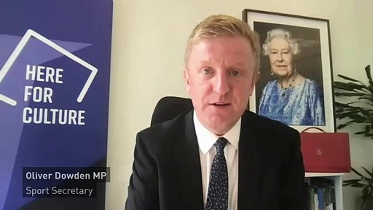 Oliver Dowden 'delighted' at English clubs' ESL withdrawal