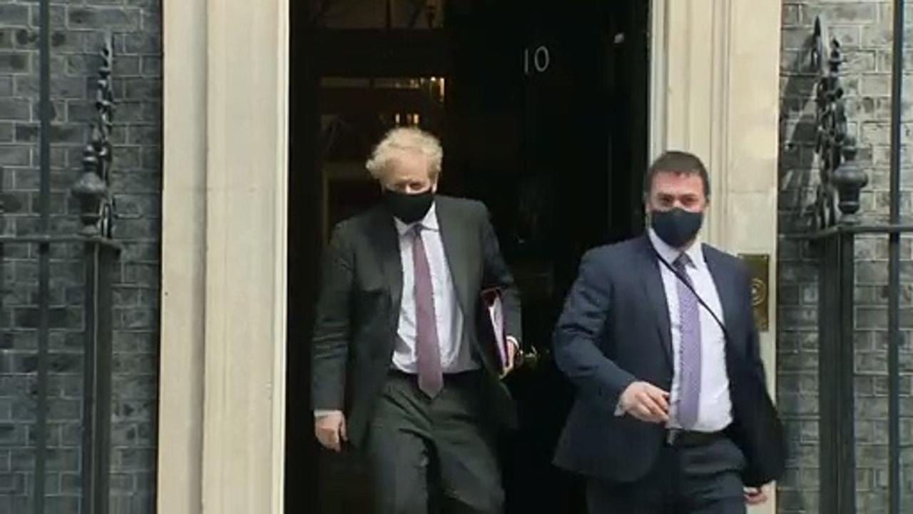 PM leaves Downing Street for PMQs