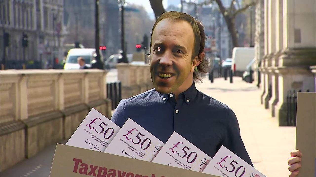 Labour activists protest against 'Tory sleaze'