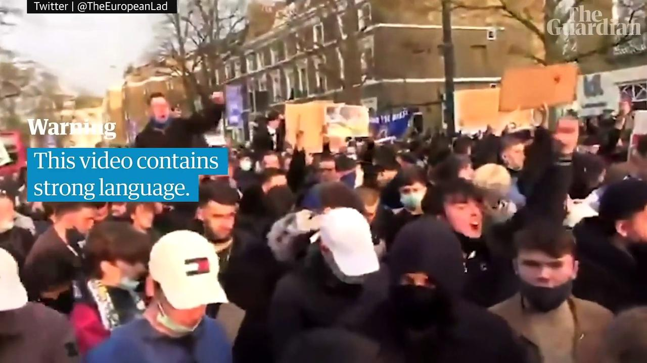 Chelsea fan protests turn to celebrations as club pulls out of Super League