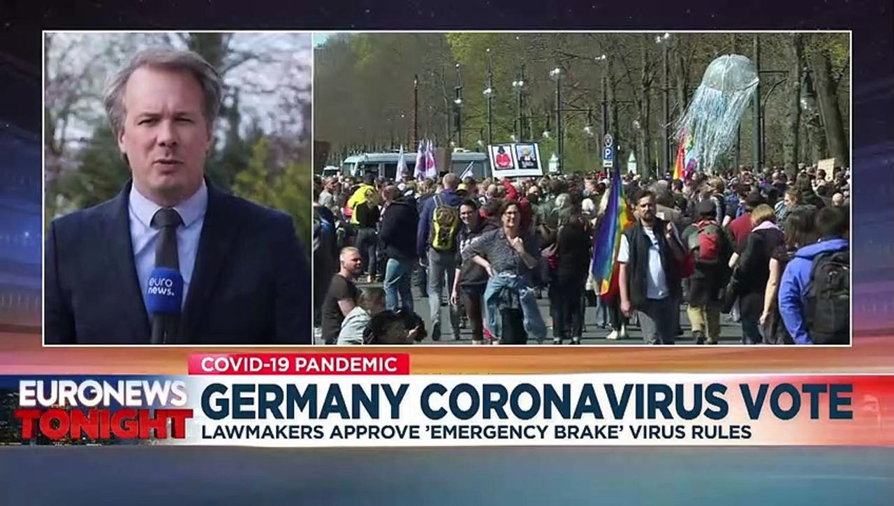 Protests in Berlin as parliament approves new COVID restrictions