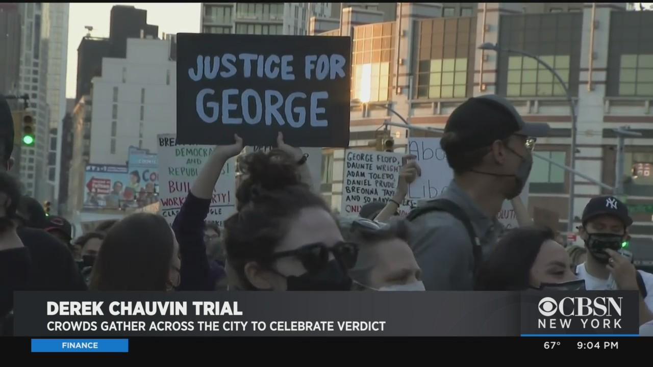 Crowds Gather Across NYC In Response To Conviction Of Derek Chauvin