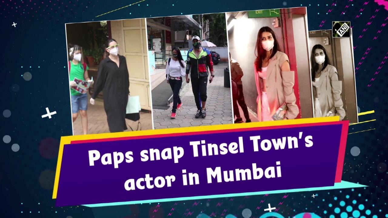 Paps snap Tinsel Town's actor in Mumbai