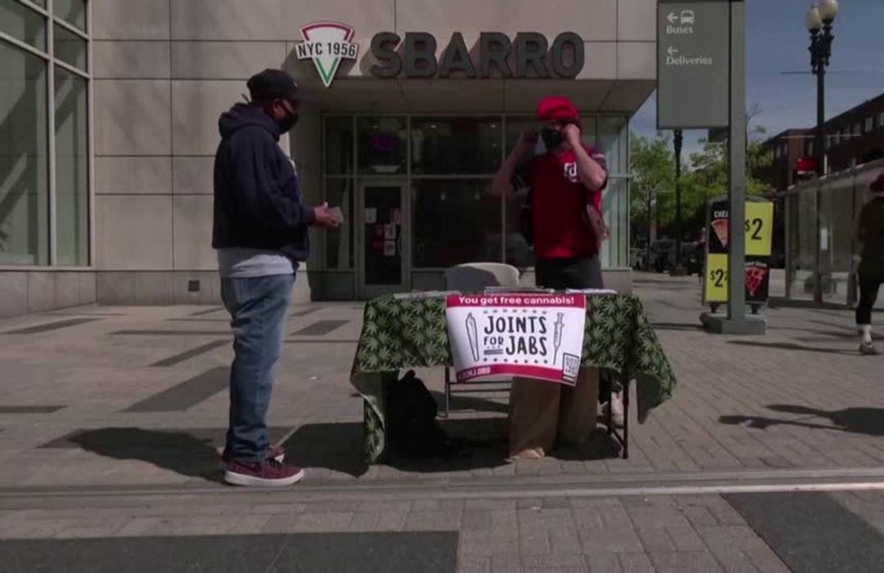 Activists stage 'Joints for Jabs' campaign in DC