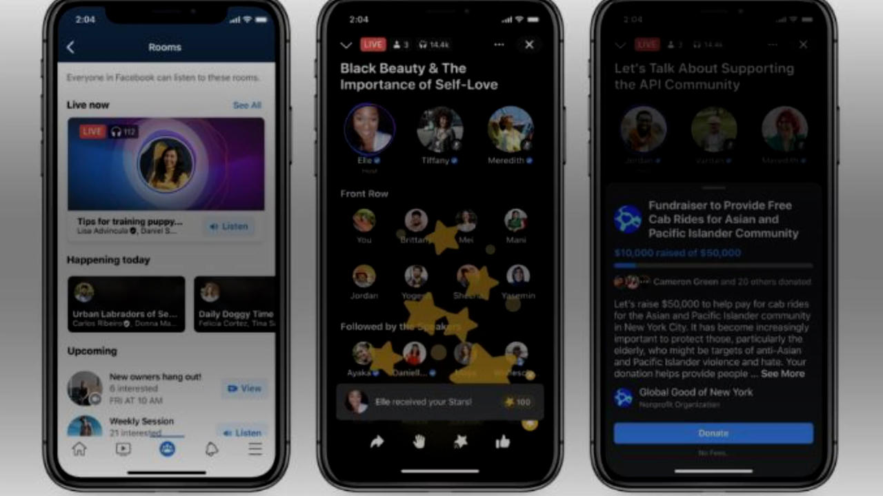 Facebook Enters Audio Space With Soundbites, Live Rooms and Podcasts