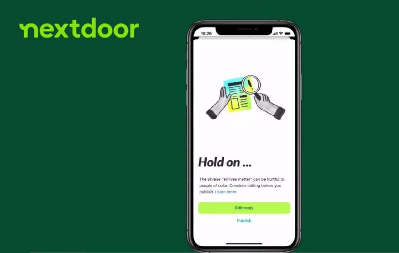 Nextdoor app works to cut down racist language