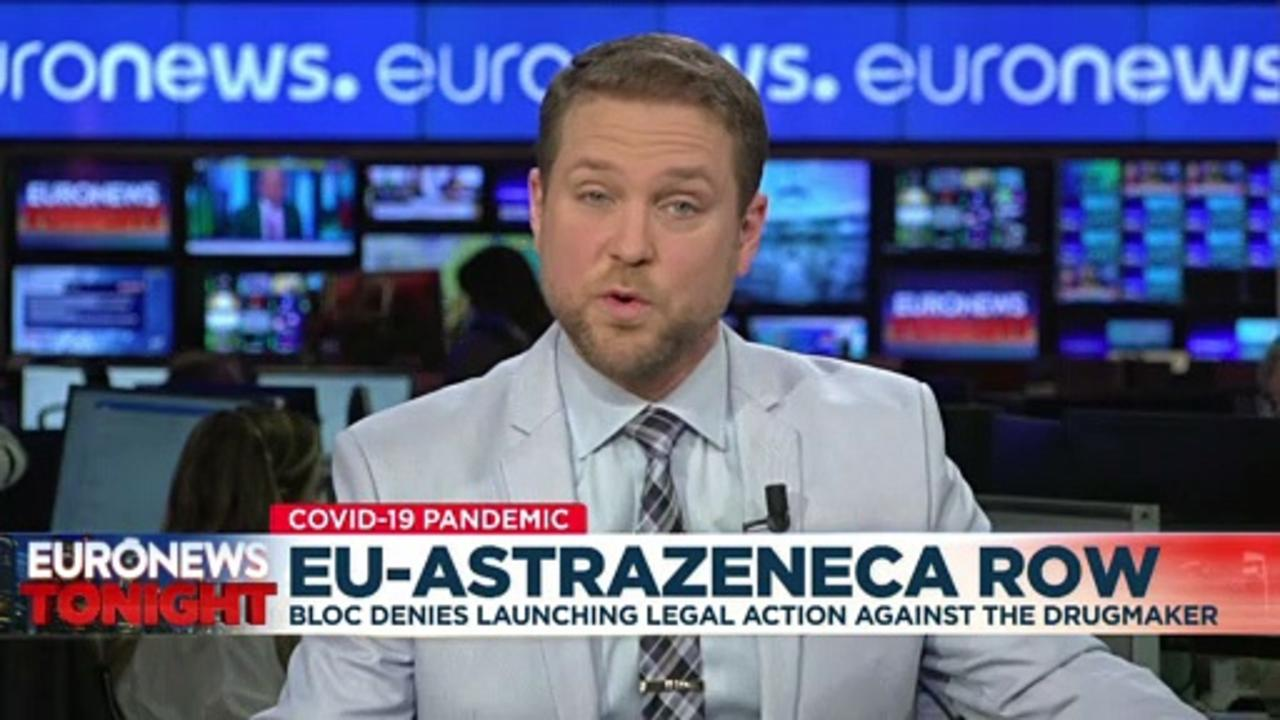 EU plays down claim that a legal case has been launched against AstraZeneca