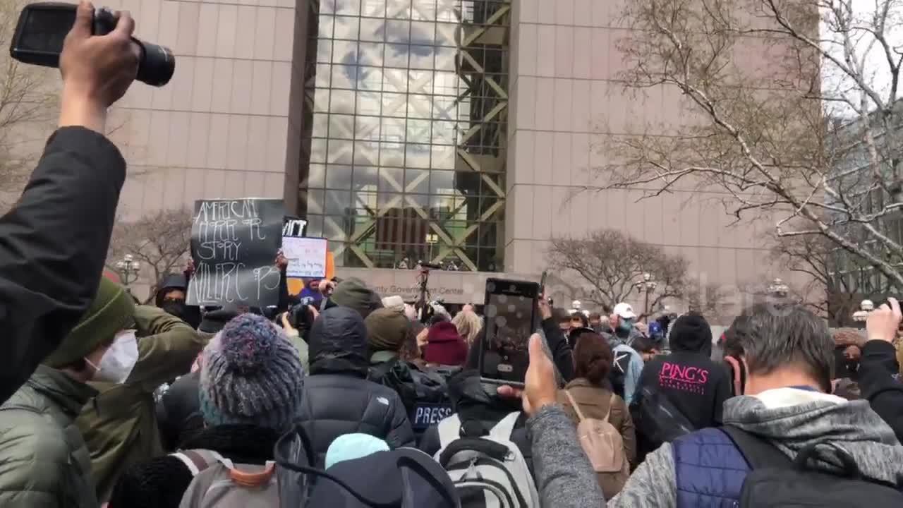 Crowds in Minneapolis celebrate as Derek Chauvin's guilty verdict is announced
