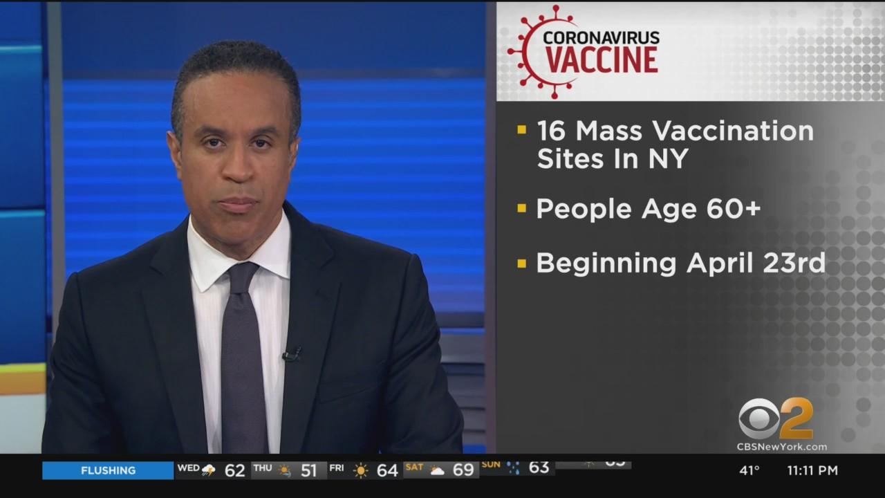 16 Mass Vaccination Sites In New York State Will Accept Walk-In Appointments For Anyone Over Age 60