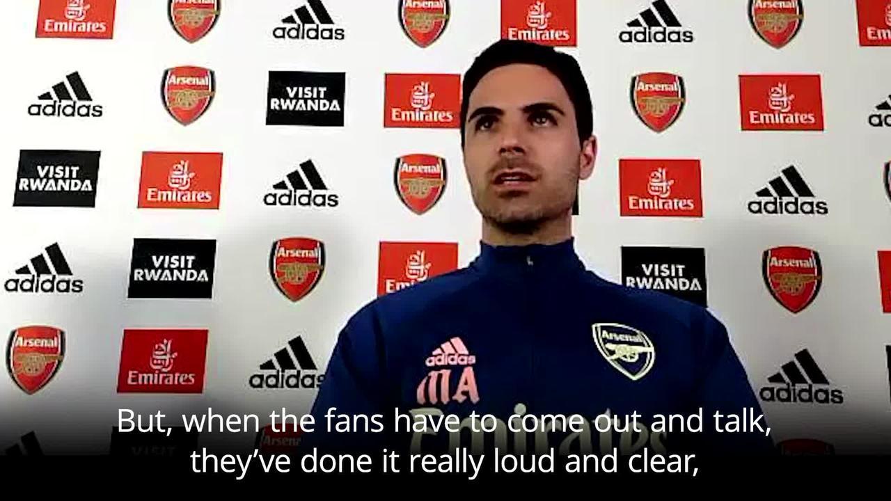 Fan outrage at Super League 'the strongest message' says Mikel Arteta