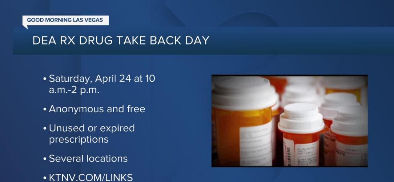 DEA hosting Drug Take Back Day on April 24