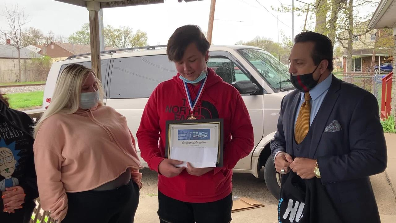 Student Jesse Scholtz Recognized By TeachAntiBullying.org