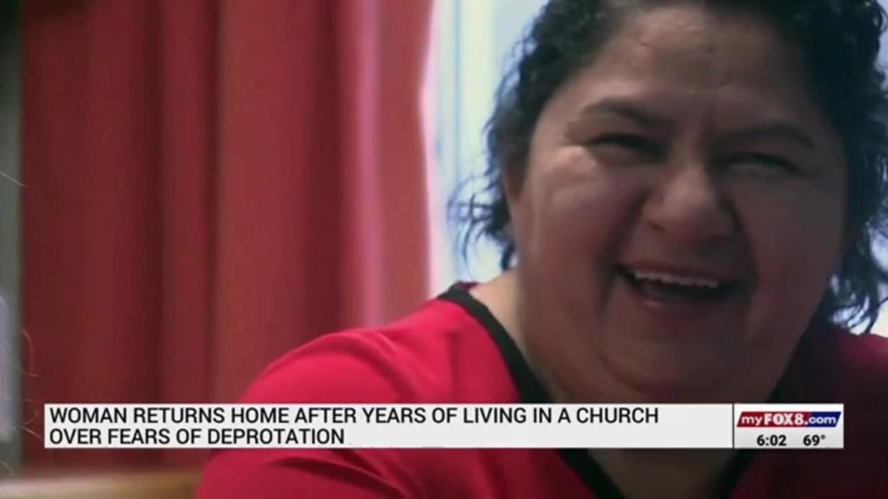 North Carolina woman returns home after years living in church over deportation fears