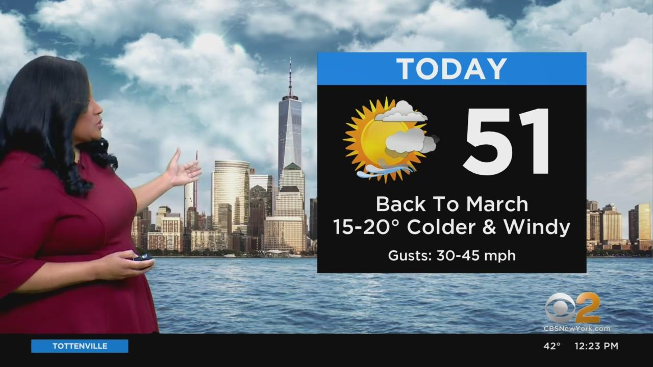 New York Weather: Cold And Windy