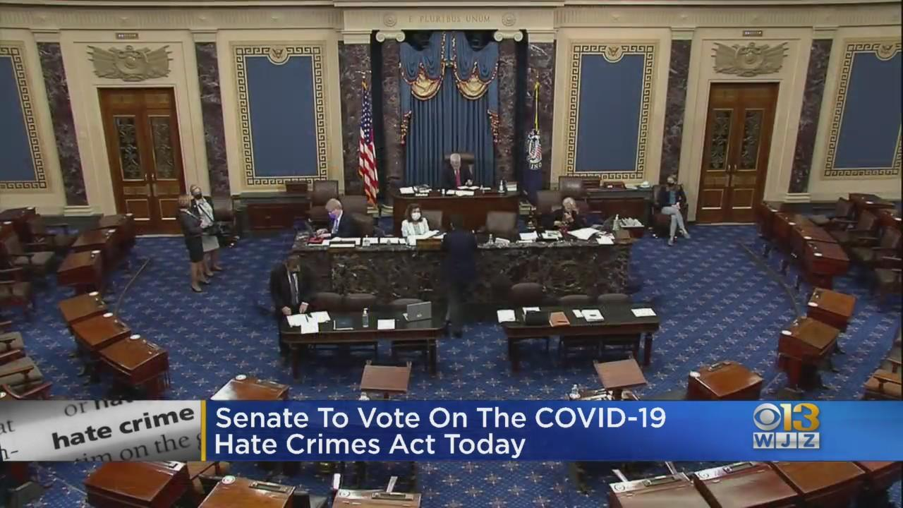Senate To Vote On The COVID-19 Hate Crimes Act Thursday