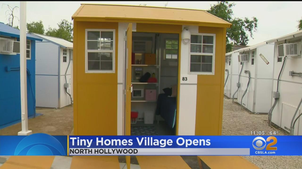 Village Of Tiny Homes Opens In North Hollywood