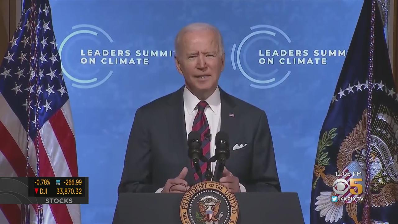 President Biden Hosts Virtual World Climate Summit; Pledges To Cut Greenhouse Gases By Half By End Of Decade
