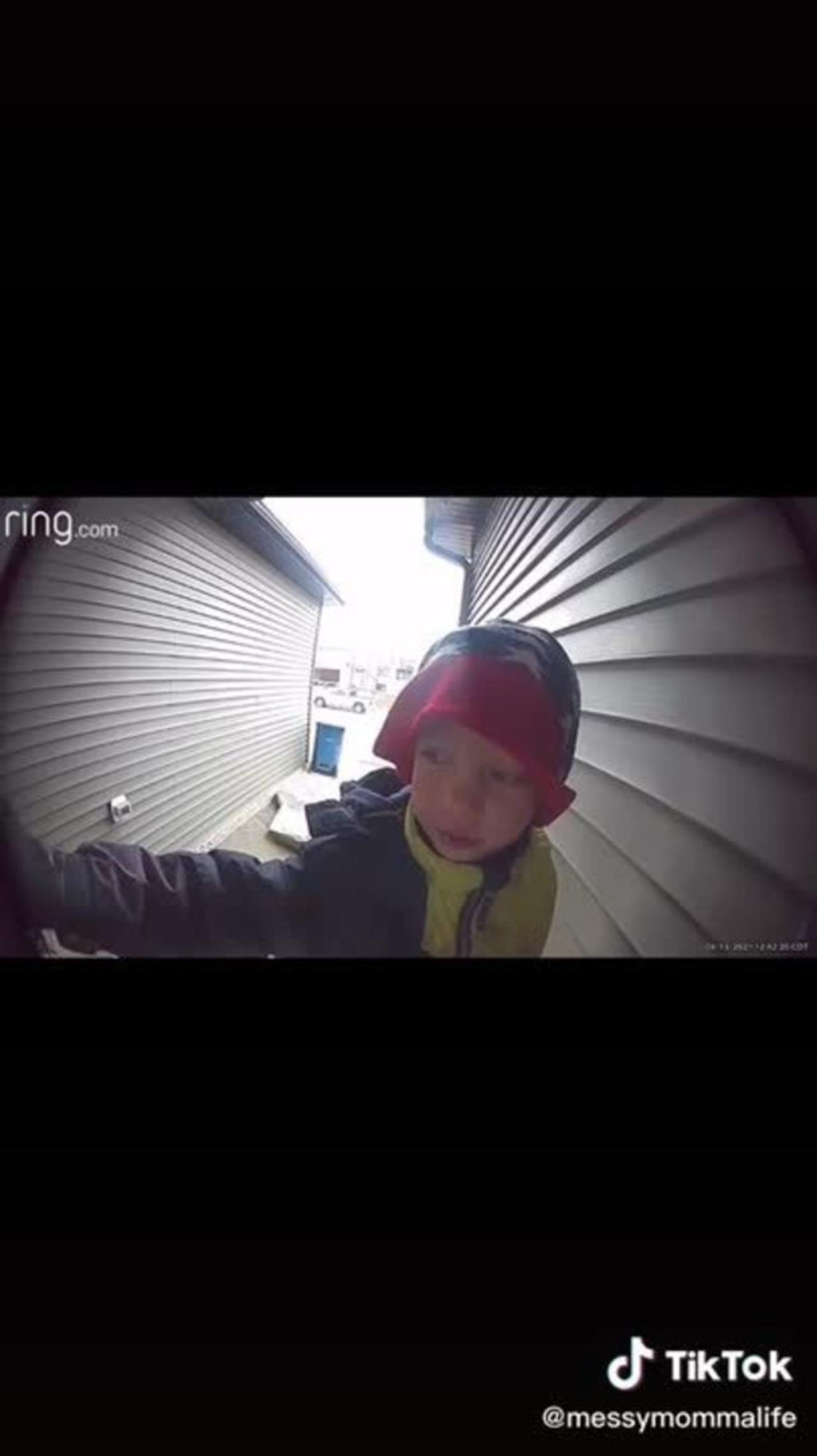 Little Boy Calls Father On Security Camera And Asks About Fast Food