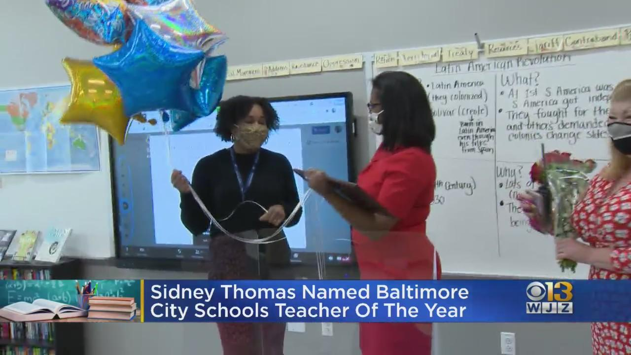 Sidney Thomas Named Baltimore City Schools Teacher Of The Year