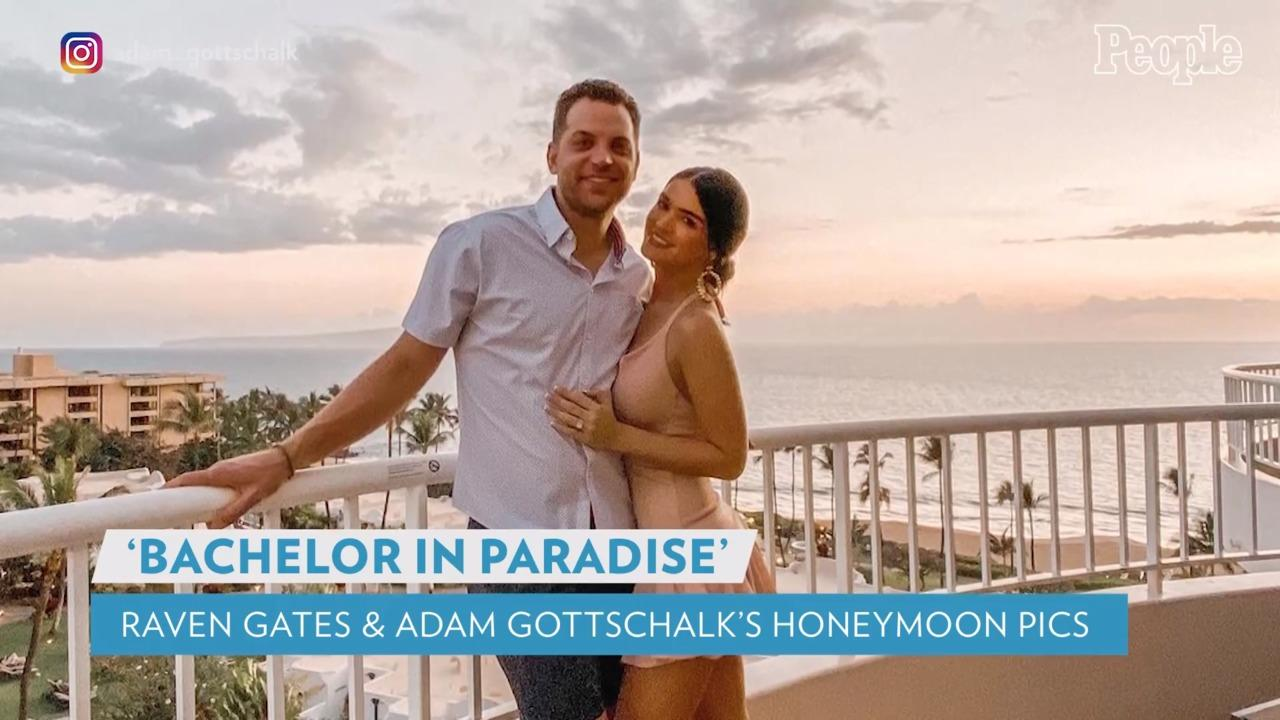 Bachelor in Paradise's Raven Gates and Adam Gottschalk Share Romantic Hawaii Honeymoon Pictures