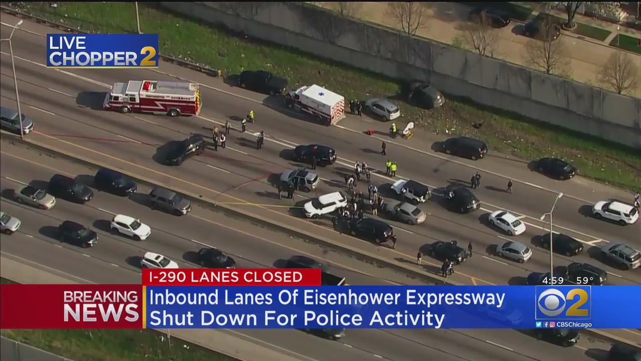 Inbound Eisenhower Expressway Closed For Police Activity In Bellwood