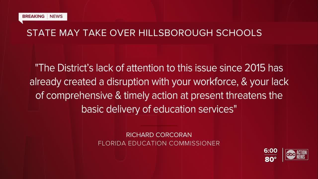 Florida education commissioner says Hillsborough schools in 'financial crisis' demands action
