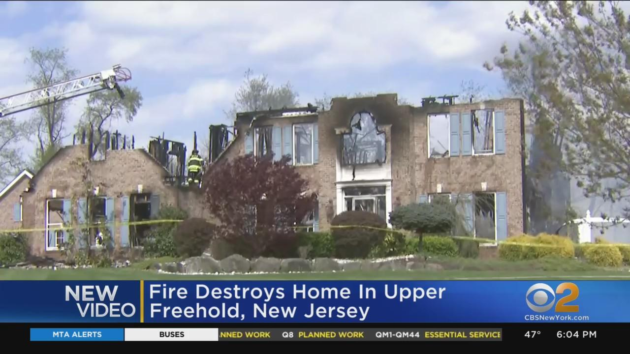 Fire Destroys Home In Upper Freehold, New Jersey