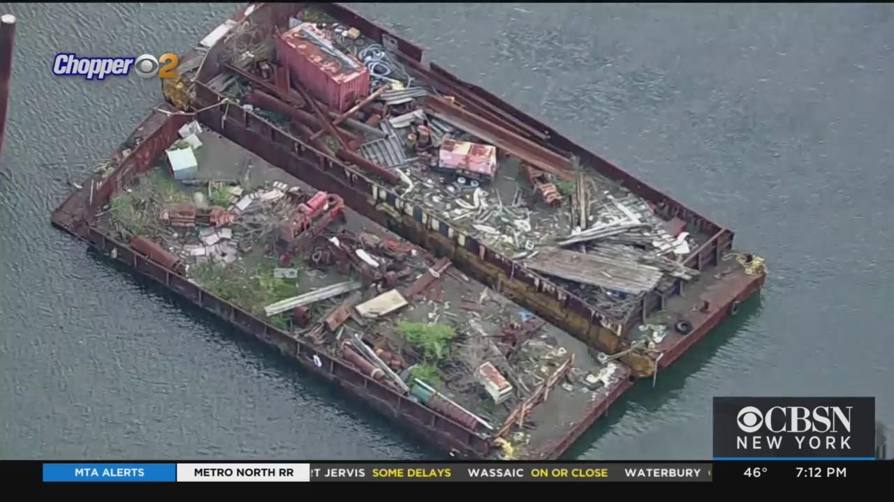 Far Rockaway Residents Fed Up With Graveyard Of Sunken Boats, Rusted Barges Filled With Garbage