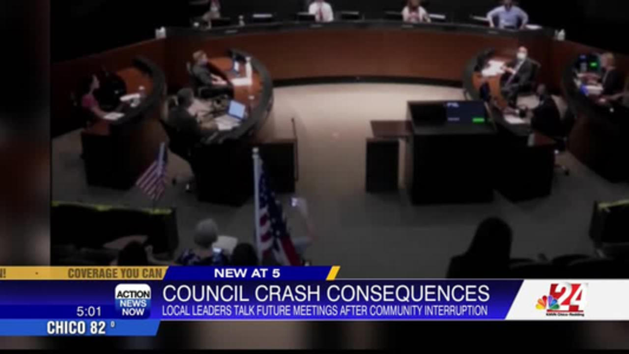 City Council members react after meeting disruption