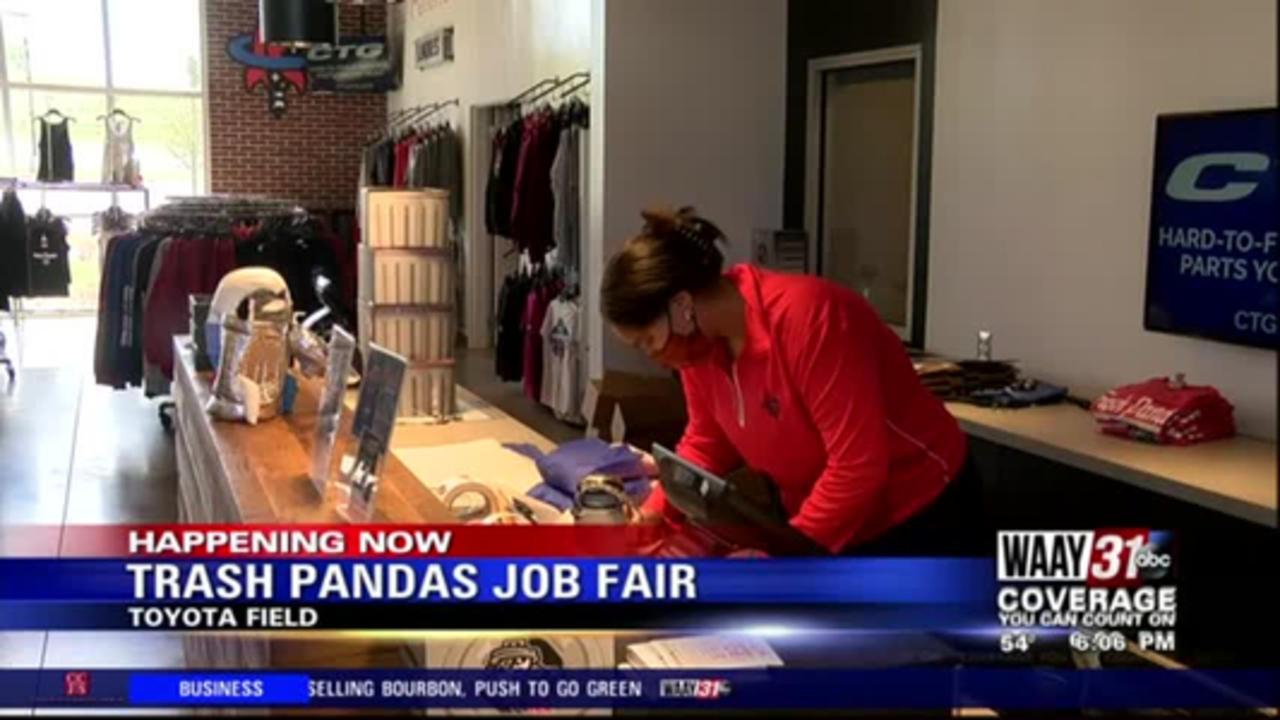 Rocket City Trash Pandas hiring gameday staff