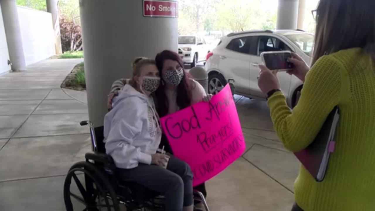 Clay County woman discharged after 106 day hospitalization