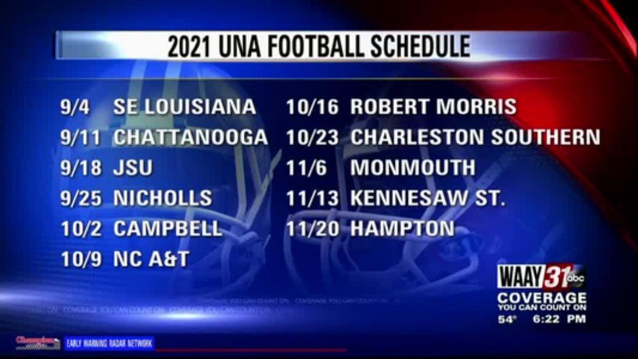 2021 UNA football schedule