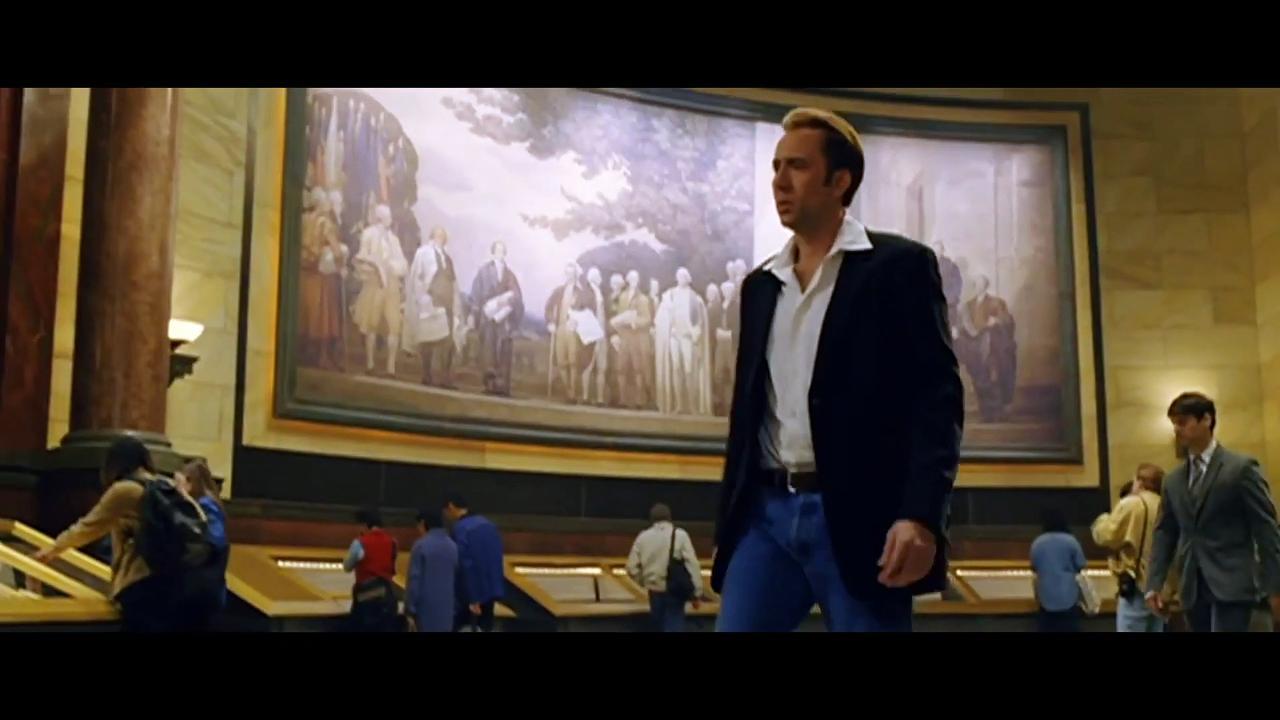 National Treasure Movie (2004) - Nicolas Cage, Diane Kruger, Justin Bartha, Sean Bean