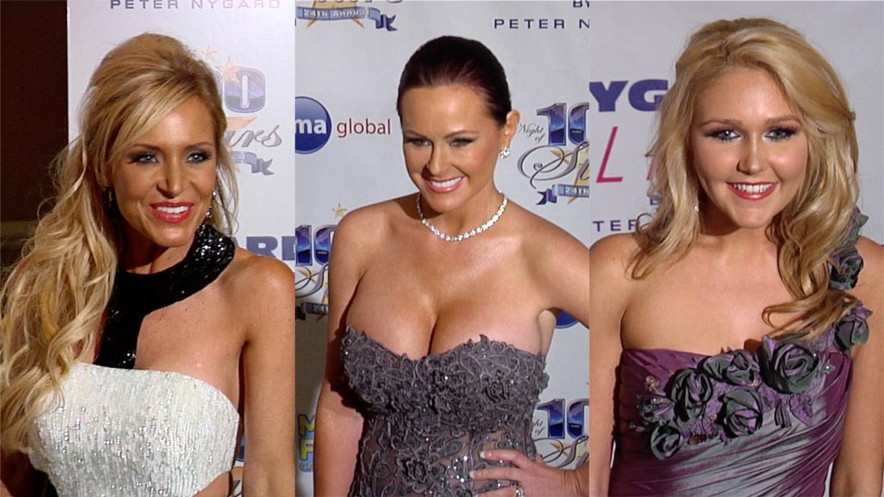 Unseen Footage: 24th Annual 'Night Of 100 Stars' Oscar Viewing Party Red Carpet Fashion