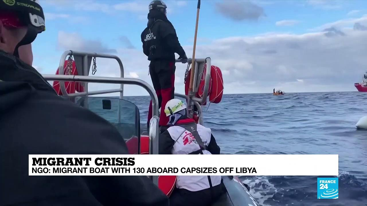 Hopes fading in search for migrant boat capsized off Libyan coast