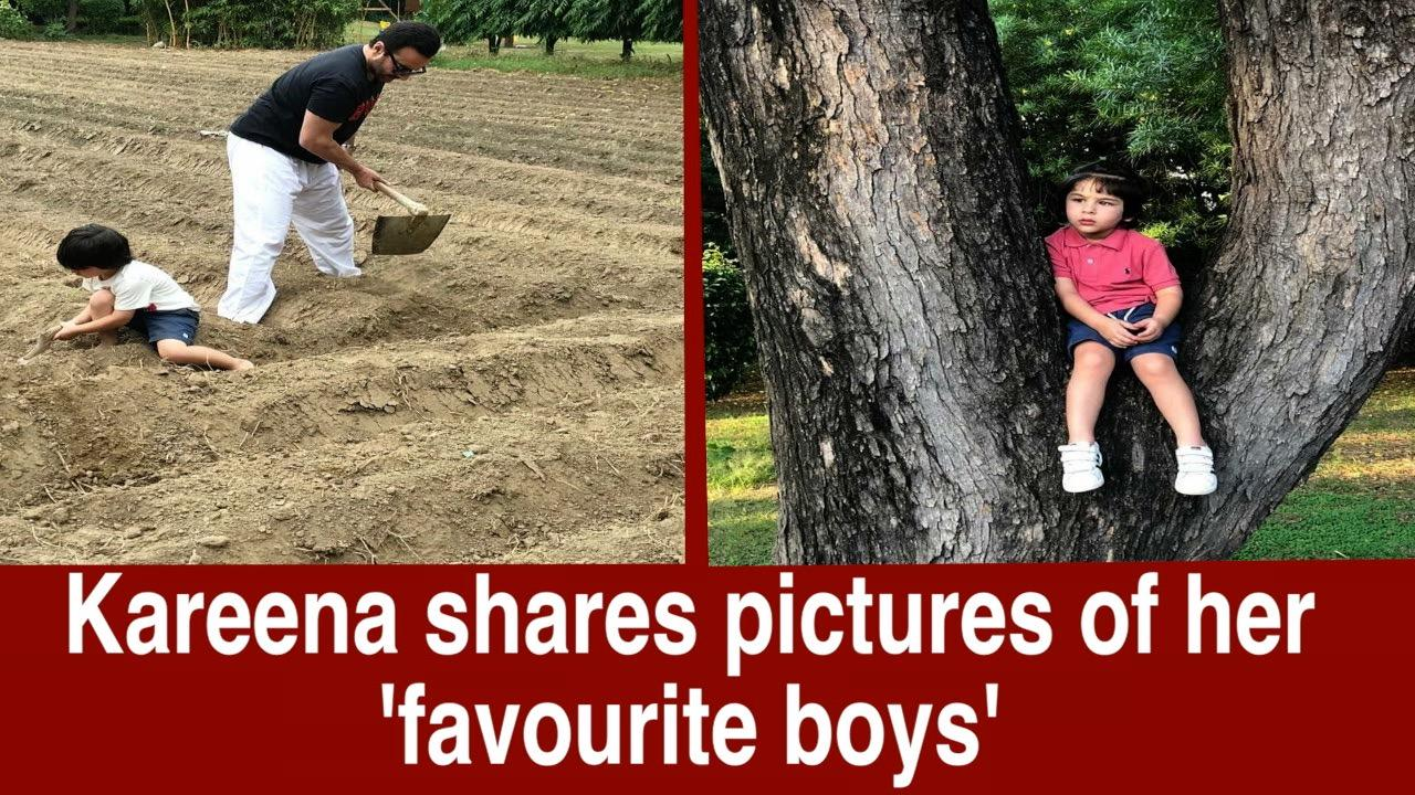 Kareena Kapoor shares picture of her 'favourite boys'