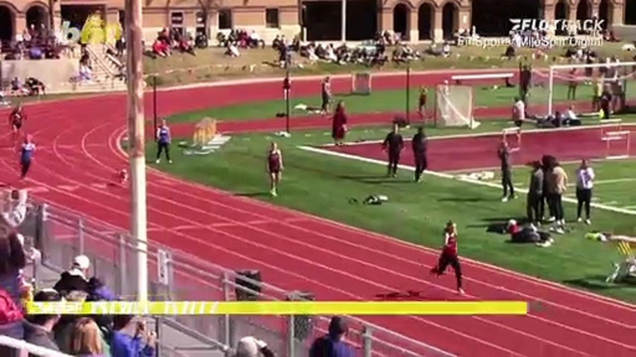 Dog Gone! Watch This Dashing Dog Catch Up to the Front of This High School Track Race!