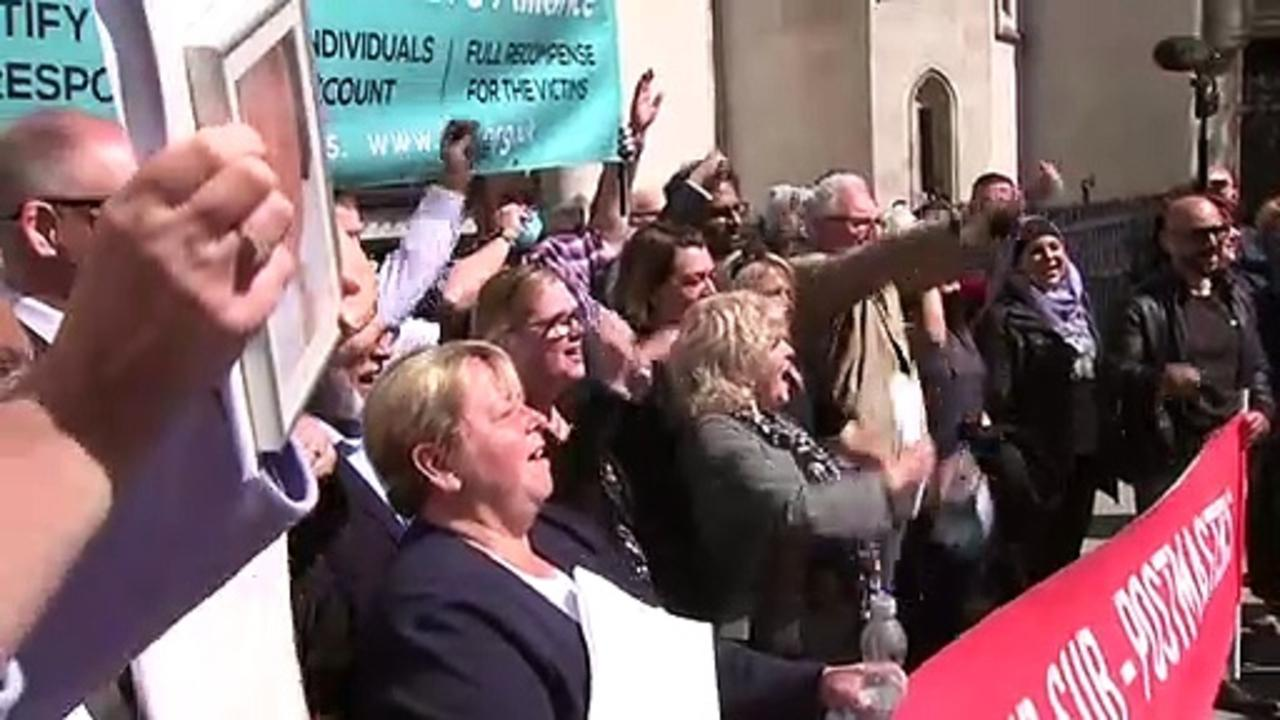 Celebrations and tears as court clears Post Office workers